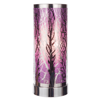 Purple-silver aroma touch lamp, home decor, home fragrance