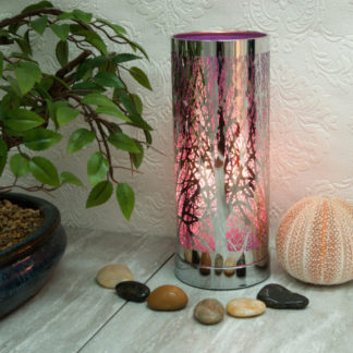 Purple-Silver aroma touch lamp tree