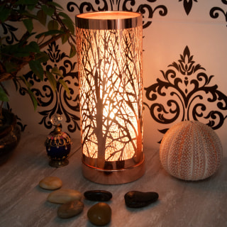 Rose Gold Aroma lamp for use with wax melts and aroma oils